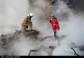 پیکر دهمین شهید آتشنشان نیز از زیر آوار خارج شد+فیلم