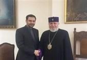 دیدار سفیر ایران در ارمنستان با اسقف ارامنه