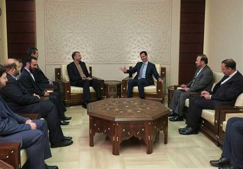 امیر عبداللهیان و اسد