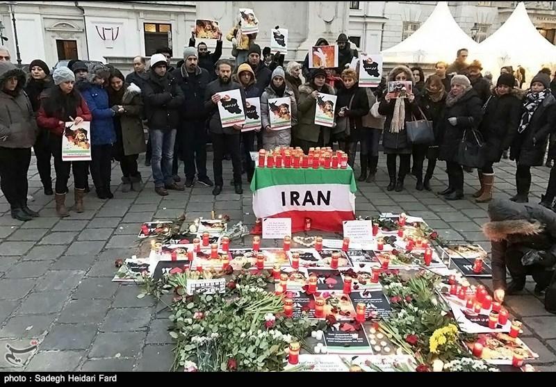 همدردی ایرانیان خارج از ایران,همدردی ایرانی های خارج با آتش نشانان,همدردی ایرانی های اروپا,عزاداری ایرانی های اروپا,ایرانی های اتریش