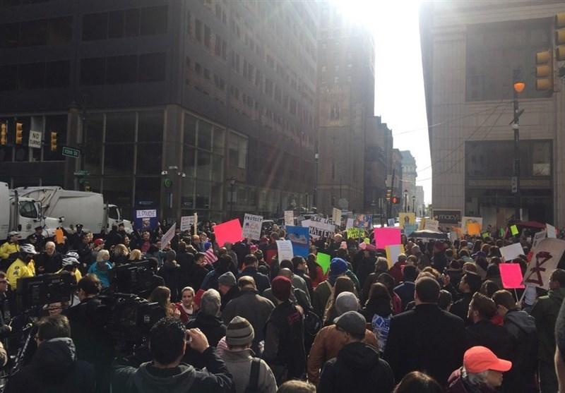 تظاهرات ضد ترامپ در فیلادلفیا