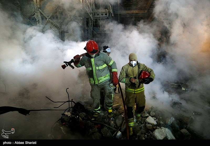 کشف پیکر آخرین آتش نشان شهید حادثه پلاسکو