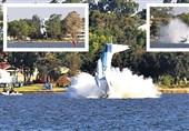 لحظه سقوط هواپیما در رودخانه+فیلم و عکس