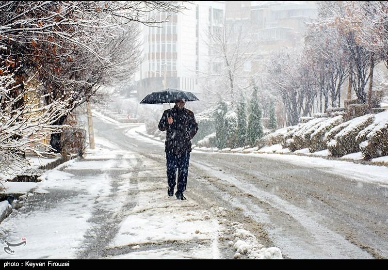 بارش برف سنندج