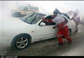 برف و کولاک شدید در گردنه اسداباد - همدان