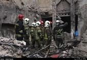 تکههای بدن پیدا شده از آوار پلاسکو شاید متعلق به آتشنشانها باشد