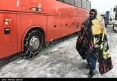 برف و یخ بندان در تاراز خوزستان