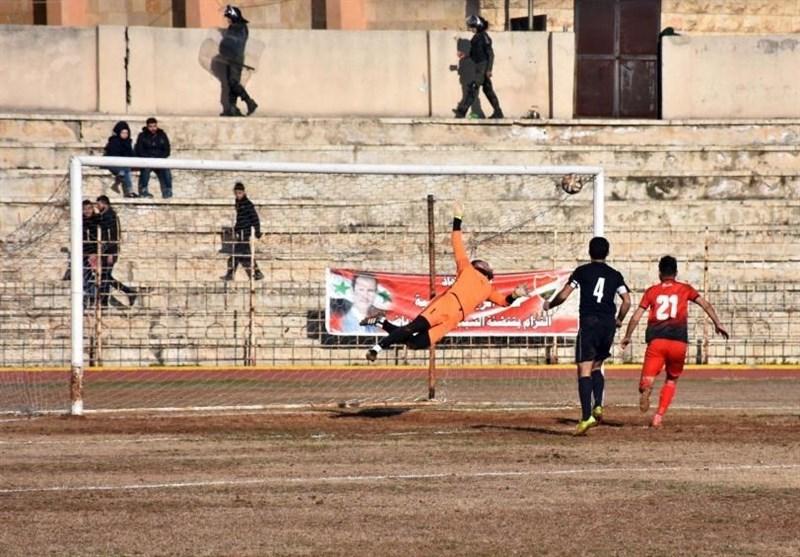 مسابقه فوتبال در شهر حلب