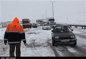 برف و کولاک گردنههای استان قزوین را در بر گرفت