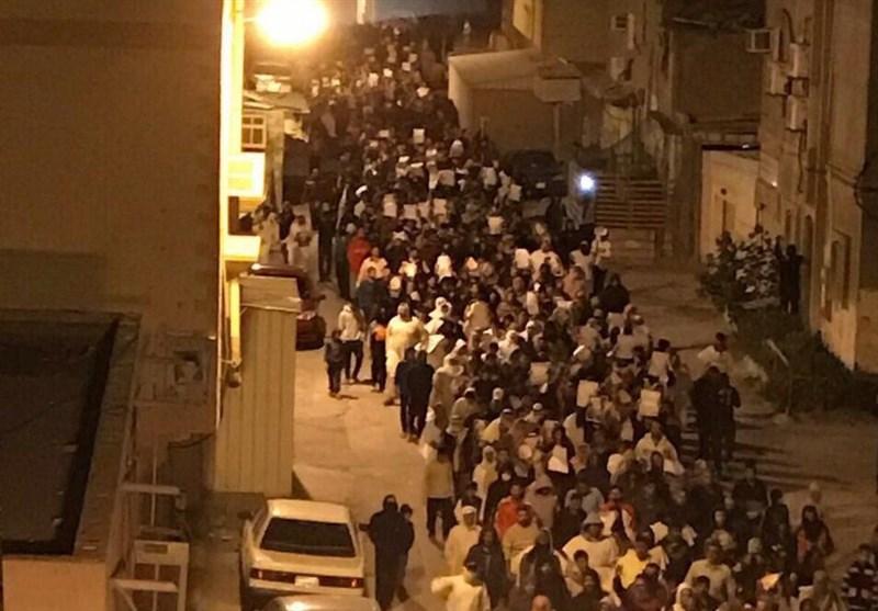 کفن پوش بحرینی عوام کے شیخ عیسی قاسم کی حمایت میں مظاہرے + فلم و تصاویر