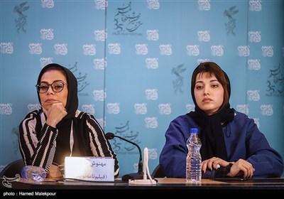 روشنک گرامی و مهنوش صادقی بازیگران فیلم خانه دیگری در نشست خبری - سیوپنجمین جشنواره فیلم فجر