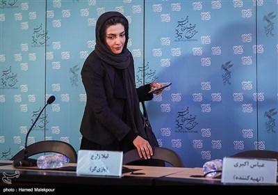 لیلا زارع بازیگر فیلم خانه دیگری در نشست خبری - سیوپنجمین جشنواره فیلم فجر