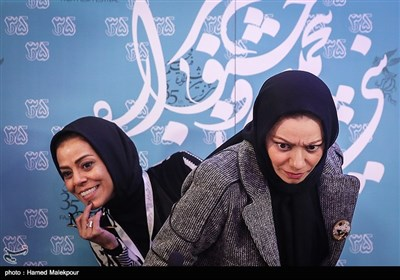 بهنوش صادقی کارگردان و مهنوش صادقی بازیگر فیلم خانه دیگری در نشست خبری - سیوپنجمین جشنواره فیلم فجر