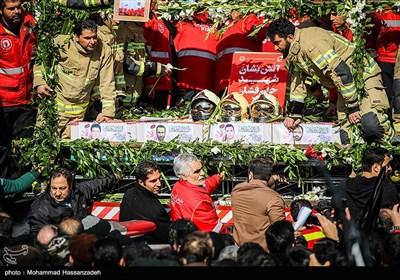 تشییع پیکر شهدای آتش نشان حادثه پلاسکو - 3