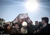 پیکر 13 شهید آتشنشان در بهشت زهرا(س) آرام گرفت + فیلم و عکس