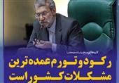 فتوتیتر/لاریجانی:رکود و تورم عمدهترین مشکلات کشور است