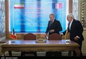 دیدار و نشست خبری وزرای امور خارجه ایران و فرانسه