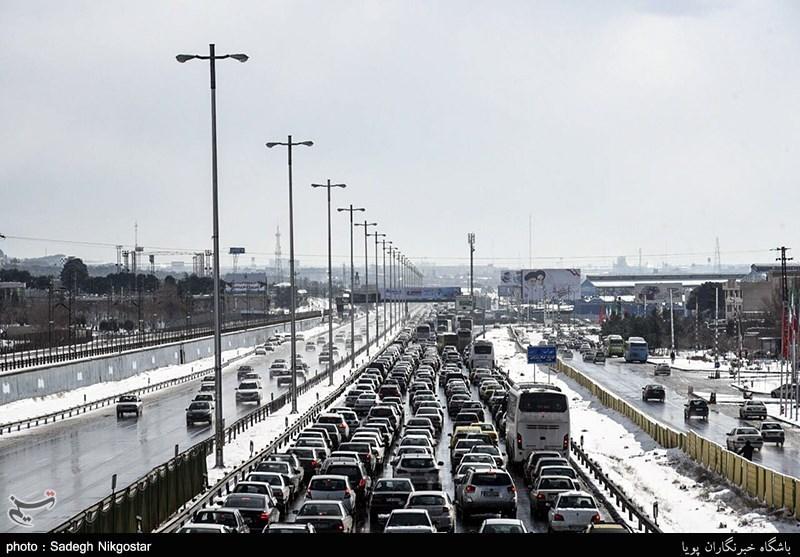 ترافیک سنگین در محور کرج به تهران