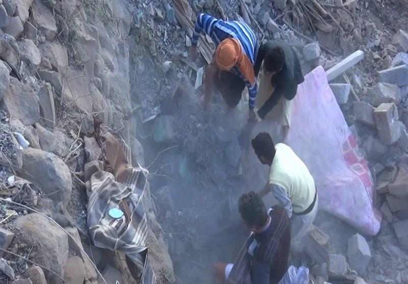 أربعة شهداء بینهم طفلان اثر غارة سعودیة على الیمن + صور