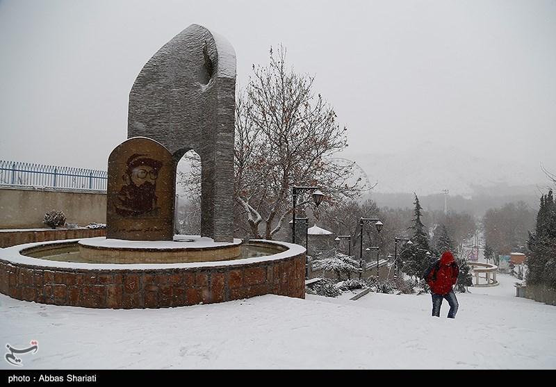 بارش برف در استان البرز