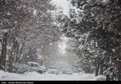 بارش برف در دماوند