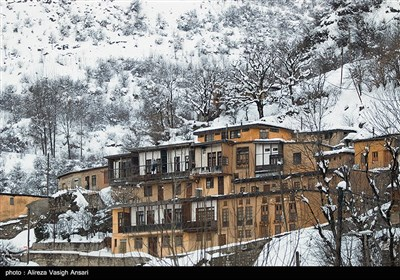 Snow Covers Iran's Historical Village of Masouleh