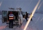18 مورد امداد رسانی به مسافران توسط هلال احمربه علت بارش برف سنگین