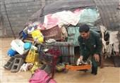 امدادرسانی نیروهای بسیجی به سیل زدگان سیستان و بلوچستان