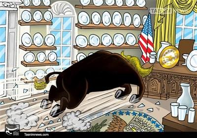 کاریکاتور/ جنون ترامپی !!!