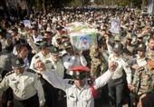 پیکر شهید مبارزه با مواد مخدر در هرمزگان تشییع شد