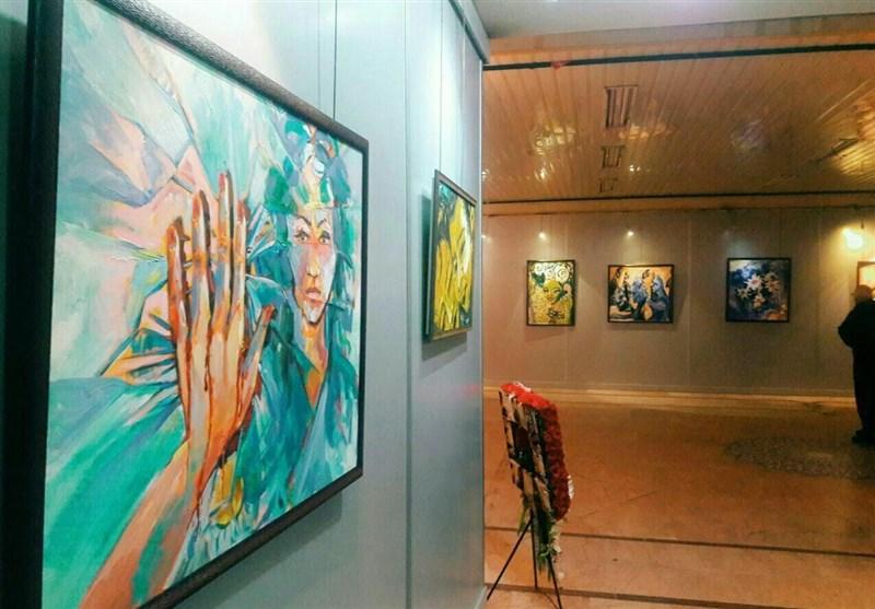 نمایشگاه نقاشی جشنواره فجر در رشت گشایش یافت+تصاویر