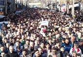 """مراسم تشییع پیکر مطهر شهید """"جواد سنجهونلی""""در مینودشت برگزار شد"""