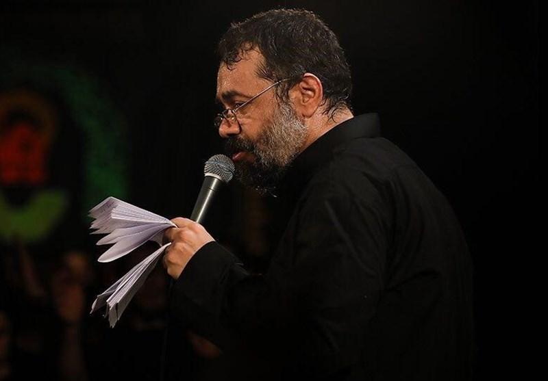 مداحی «محمود کریمی» در شب تاسوعای حسینی + فیلم