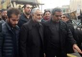حضور سرلشکر سلیمانی در راهپیمایی 22 بهمن + تصویر و فیلم