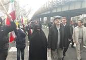 حضور رئیس دانشگاه عالی دفاع ملی در راهپیمایی 22 بهمن