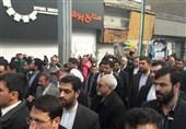 حضور ظریف در راهپیمایی 22 بهمن + تصویر