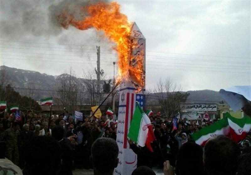 تہران عظیم الشان ریلی میں عوام کی بھرپورشرکت، ٹرنڈ نیوز