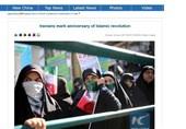 شینهوا: شرکتکنندگان در راهپیمایی 22 بهمن تصاویر رهبر ایران را در دست داشتند