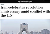 واشنگتنپست: راهپیمایی پیروزی انقلاب ایران همزمان با تشدید تنشها با آمریکا برگزار شد