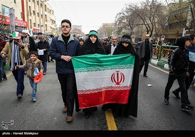 People Swarm Streets of Tehran to Mark Revolution Victory