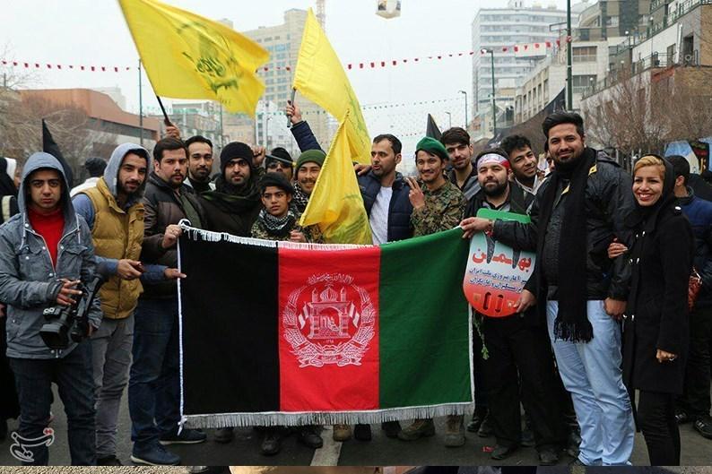 Afganlı Göçmenler İslam İnkılabının 38. Yıldönümü Yürüyüşüne Katıldı + Foto