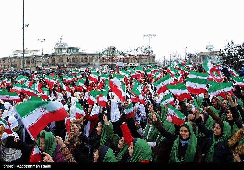راهپیمایی 22 بهمن در همدان