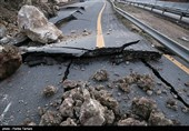 زلزله به راههای اصلی آسیب نزد