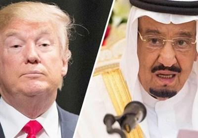 ترامپ در گفتگو با شاه سعودی خواستار پایان سریع مناقشه خلیج فارس شد