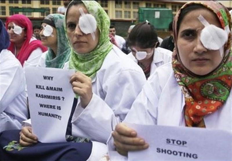 کشمیر میں جاری ظلم و ستم کے خلاف بھارتی طلبا کا دہلی میں احتجاج