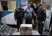 گاوصندوق خارج شده از پلاسکو به پلیس بازگردانده شد + تصاویر