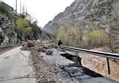 برخی محورهای مواصلاتی گلستان به دلیل ریزش کوه و سیلاب همچنان مسدود است