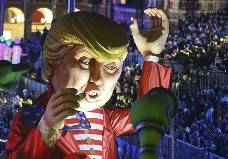 الآلاف یتظاهرون ضد ترامب فی لندن