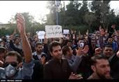 چهارمین روز تجمع مردم خوزستان مقابل استانداری