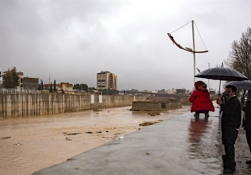 باران و سیل در شیراز
